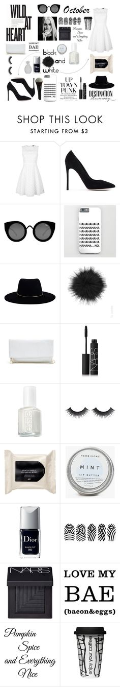 """""""Black and White #october"""" by xestherkoopmans ❤ liked on Polyvore featuring мода, Tommy Hilfiger, Gianvito Rossi, Bebe, Quay, Zimmermann, La Senza, GUESS, NARS Cosmetics и Essie"""
