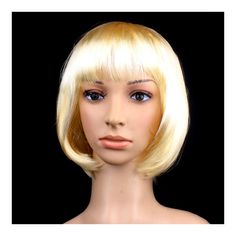 Women's Sexy Short Bob Cut Fancy Dress Wigs Play Costume Ladies Full Wig Party blonde