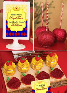 SNOW WHITE PARTY - PRINCESS Party - FOOD LABELS - Princess Birthday- Girl