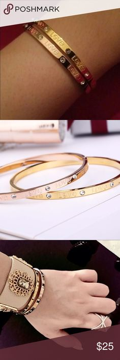 SUPER PRICE ❗️❗️❤️️ Only TODAY ❗️ 18K gold plated fashion bangles. Material: stainless steel. Jewelry Bracelets