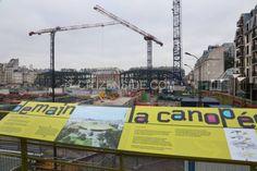 Les parisiens découvrent la Canopée du chantier des Halles - Info locale - Citizenside France