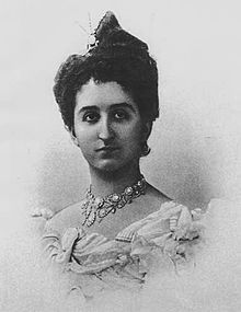 Anna Petrović-Njegoš, Princess of Montenegro (18 Aug 1874 - 22 Apr 1971) was the seventh child and sixth daughter of Nicholas I of Montenegro and Milena Vukotić. While her sisters all made extremely advantageous marriages to powerful royal figures, she married Prince Francis Joseph of Battenberg; it was a morganatic marriage. They had to gain permission from Queen Victoria and the Russian court to marry. The lived happily, but had no children, and were very popular with their families.