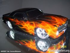 Images Of Cars Painted With Flames True Fire On Rc Car Custompainters