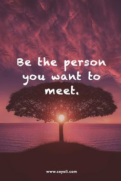 Be the person you want to meet | quotes & zitate #ceyoli