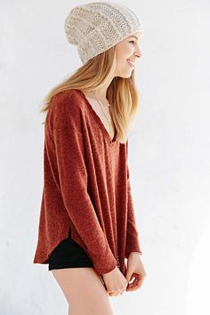 BDG Cozy Sweater Knit Top - Urban Outfitters