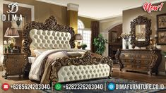 Vanity Room Exsklusif Kamar Set Mewah Ukiran Jepara Luxury Classic Model TTJ-0956
