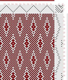 draft image: Page Figure Donat, Franz Large Book of Textile Patterns, Card Weaving, Paper Weaving, Loom Weaving, Tapestry Weaving, Weaving Designs, Weaving Projects, Weaving Patterns, Textile Patterns, Knitting Charts