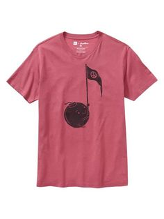 Mens Gap + Threadless Peace Song T