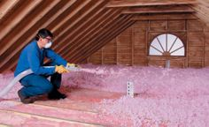 More Attic Insulation products being installed...