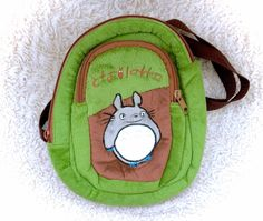 My Neighbor Totoro Green Soft Plush Backpack Knap Sack Satchel Bag Purse Ghibli