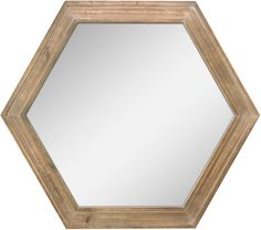 "AmazonSmile: Stonebriar Decorative 24"" Hexagon Hanging Wall Mirror with Natural Wood Frame and Attached Hanging Bracket, Rustic Farmhouse Decor for the Living Room, Bathroom, Bedroom, and Entryway: Home & Kitchen Wood Framed Mirror, Wall Mounted Mirror, Wall Mirror, Mirrors, Reclaimed Wood Bathroom Vanity, Triangle Wall, Rustic Farmhouse Decor, Geometric Wall, Home Decor Furniture"