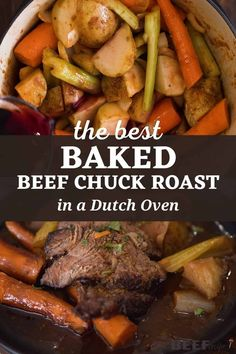 My Oven Baked Chuck Roast Recipe is a perfect family dinner or special occasion meal. It's easy to prep in just 15 minutes, then cooks low and slow in the oven all in one pot. via @bestbeefrecipes Oven Baked Pot Roast Recipe, Oven Pot Roast, Easy Pot Roast, Baked Roast, Best Chuck Roast Recipe, Chuck Roast Recipes, Pot Roast Recipes, Easy Oven Recipes, Best Beef Recipes