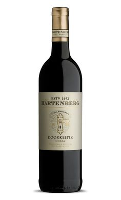 The label displays the original doorkeep on the historic doors of the Hartenberg underground cellar facility, where the wine is matured, prior to bottling.