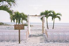 Beach wedding. Grand Plaza Wedding St Pete Beach, Florida Beach Wedding Set up  www.grandplazaflorida.com  Destination Wedding Photography Weber Photography Blog