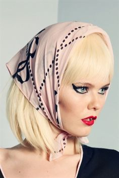Wheels and Dollbaby - Classic Silk Frenchie Scarf Classic Style, My Style, Sugar And Spice, Kate Moss, Silk Scarves, Passion For Fashion, Vintage Inspired, Girly, Wheels