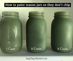 Outstanding mason jar hacks are offered on our site. Take a look and you wont be sorry you did. Mason Jar Projects, Mason Jar Crafts, Mason Jar Diy, Chalk Paint Mason Jars, Painted Mason Jars, Mason Jar Painting, Diy Hanging Shelves, Floating Shelves Diy, Diy Home Decor Projects