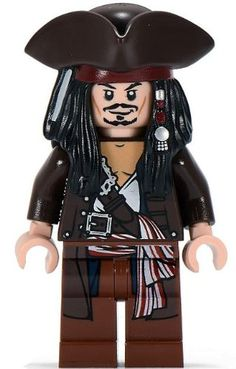 Amazon.com: Captain Jack Sparrow (Hat & Jacket) - LEGO Pirates of the Caribbean Minifigure