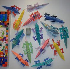 grade Materials: - Construction Paper - Markers& Crayons - Scissors - Gluestick - Premade Feet and Head Tracers Sculpture Lessons, Sculpture Projects, Art 2nd Grade, Classe D'art, Art Origami, E Mc2, School Art Projects, Art Lessons Elementary, Art Lesson Plans
