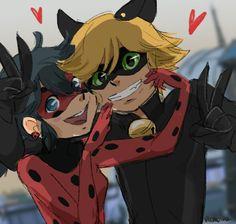 Ladybug and Cat Noir
