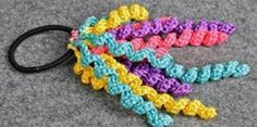 Curly Ponytail Holder or Package Topper
