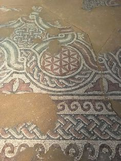 Ancient Basilica Flower of Life mozaic - Archeological Museum Kabile, Bulgaria