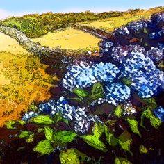 'Das blaue Buschwerk' von Dirk h. Wendt bei artflakes.com als Poster oder Kunstdruck $18.03
