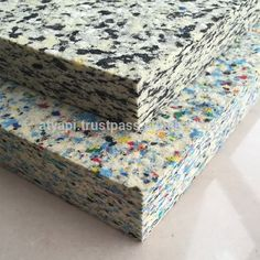 Rebond Foam or Bond foam is a product made from foam chips mixed with a high percentage of glue, rebond foam is very dense and provides a solid, firm support base. Mousse, 40ft Container, Carpet Underlay, Stunning Wallpapers, Sustainable Furniture, Foam Sheets, Rubber Flooring, Data Sheets, Sound Proofing