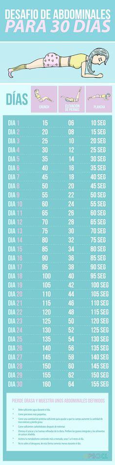 Desafio abdominales 30 dias
