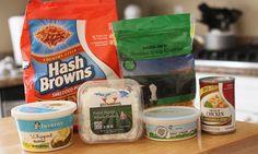 The Larson Lingo:cracker barrel hash brown casserole Make Ahead Breakfast Casserole, Breakfast Recipes, Snack Recipes, Cooking Recipes, Snacks, Cooking Tips, Cracker Barrel Hashbrown Casserole, Hash Brown Casserole, Good Food