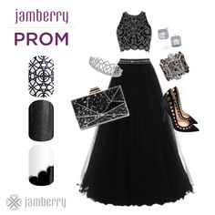 Jamberry nail wraps COMMOTION, TUNGSTEN SPARKLE, & ON THE TOWN. How will you match your nails to your prom dress? Flashy or Classy?