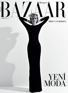 Milou Van Groesen covers the February 2013 issue of Harper's Bazaar Turkey