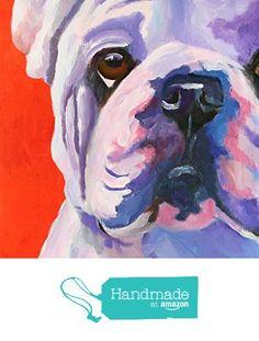 English Bulldog Dog Fine Art Print on 100% Cotton Watercolor Paper from Art by Ron Krajewski http://www.amazon.com/dp/B017BHMTQW/ref=hnd_sw_r_pi_dp_acYOwb1G6R3F4 #handmadeatamazon