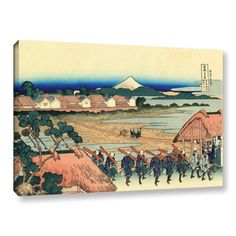 Nakahara In The Sagami Province by Katsushika Hokusai Painting Print on Gallery Wrapped Canvas