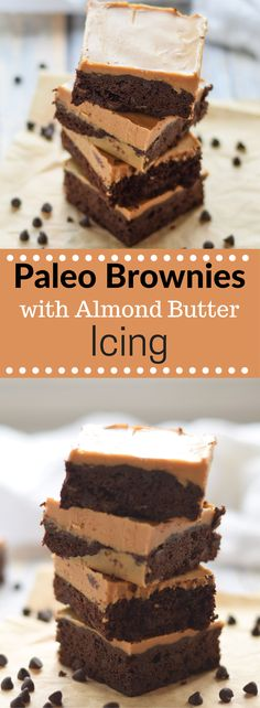 Sometimes you just need some chocolate like these Paleo Brownies with Almond Butter Icing.  They are rich, dense and packed with chocolate to help you get through the afternoon slump.  (paleo, gluten-free) via @lkkelly98