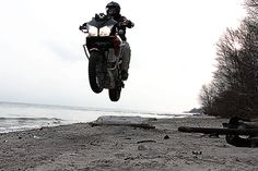"""It was going to be a testing day for """"The New Guy"""" aka Outback Motortek Langar II. skid plate but ended with a flying Vstrom. Conclusion: we had tons of FUN!"""