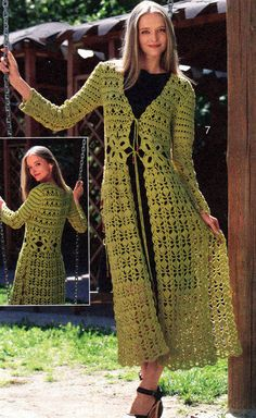 MADE TO ORDER - a crochet spring/fall long top/cardigan/jacket Crochet Coat, Crochet Jacket, Crochet Cardigan, Crochet Clothes, Knit Dress, Cardigan Pattern, Crochet Fashion, Crochet Designs, Long Tops