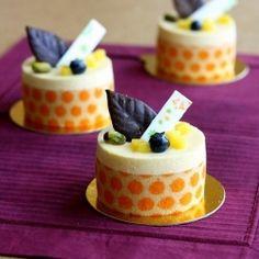 Petits Orange Mousse Entremet #plating #presentation