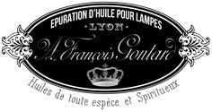 Today I have a French lamp oil transfer printable for you! This logo was made from several vintage French documents and receipts. This proprietor