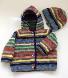 Tommy Garter Stitch Hoody Knitting pattern by Daisy – baby sweaters Baby Knitting Patterns, Baby Boy Knitting, Knitting For Kids, Baby Patterns, Knitting Projects, Crochet Patterns, Baby Knits, Crochet Ideas, Baby Boy Sweater