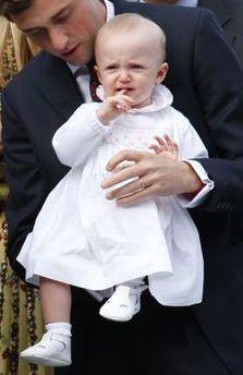 Archiduchesse Anna-Astrid d'Autriche-Este, 1 an, née en 2016, Arrière-petite-fille du roi Albert II de Belgique