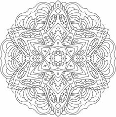 Mandala nr 1 for coloring