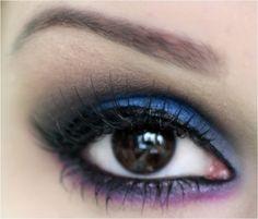 Passo a passo maquiagem azul, roxa e preta - tudo make 03