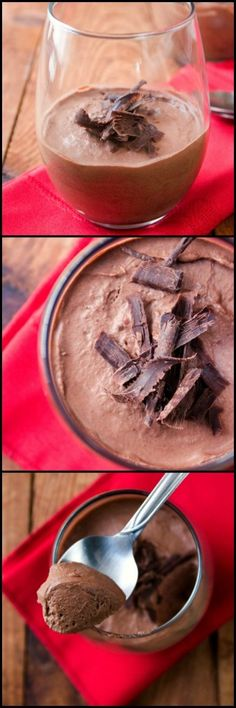 Chocolate Mousse For Two - rich and silky smooth dessert for true chocolate lovers.