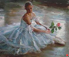 Living A Dream by Robert Coombs, Oil, 20 x 24 Ballerina Painting, Ballerina Art, Ballet Art, Dance Paintings, Cool Paintings, Ballet Poses, Ballet Dancers, Kissing Booth, Art Journal Techniques
