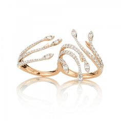 #NOAFineJewellery Espina Ring in Rose Gold and White Diamonds £3,980.00 #giftlibrary