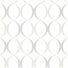Brewster Home Fashions Rosten Gray Retro Orb Wallpaper ($67) ❤ liked on Polyvore featuring home, home decor, wallpaper, backgrounds, walls, white, gray wallpaper, gray white wallpaper, retro home decor and grey home decor