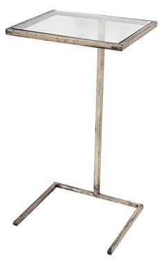 Metal and Glass Rectangular Accent Side Table, Silver Sofa Side Table, Wooden Side Table, End Tables, Couch Table, Drink Table, Beverage Table, Wooden Magazine Rack, Home Inc, House And Home Magazine