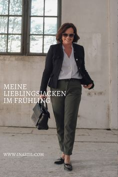 Outfit: Lieblingsjacken im Frühling Blazer, Outfit, Jeans, Personal Style, Suits, Chic, Blog, How To Wear, Fashion