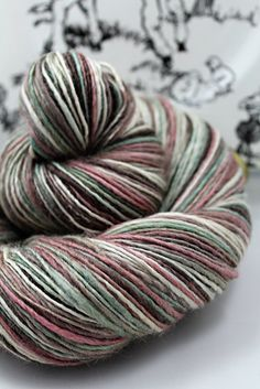 Handspun Yarn Gently Thick and Thin DK Single by SheepingBeauty, $54.00