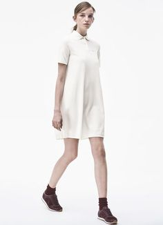 Polo dress in soft petit piqué - FLOUR